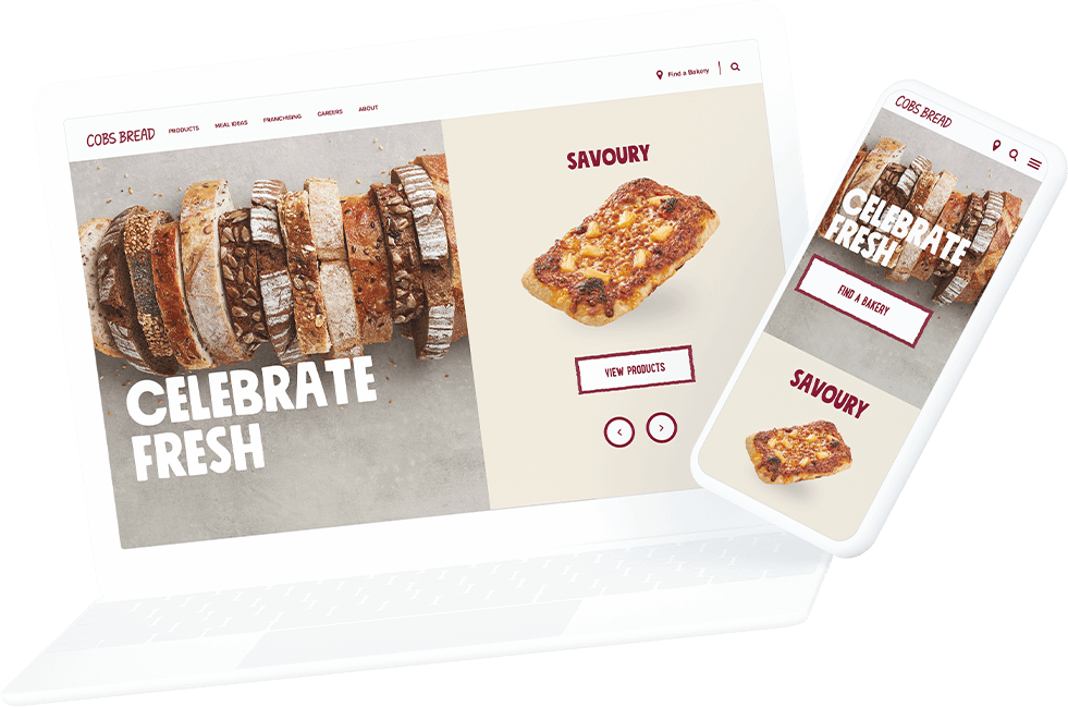 COBS Bread website laptop