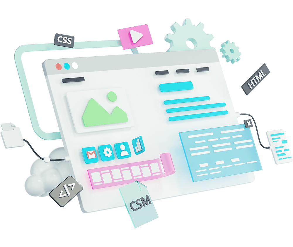 Custom-web-dev-3d-illustration