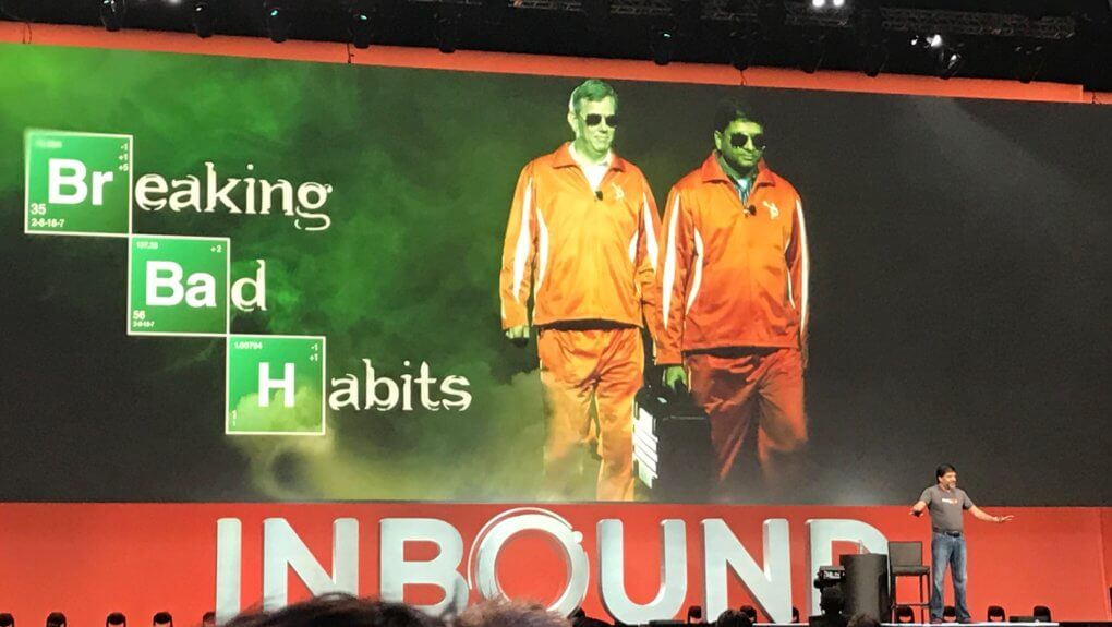 Breaking Bad Habits slide from HubSpot's Inbound 2018 event