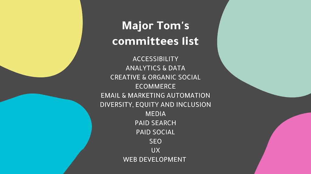major tom's committees list