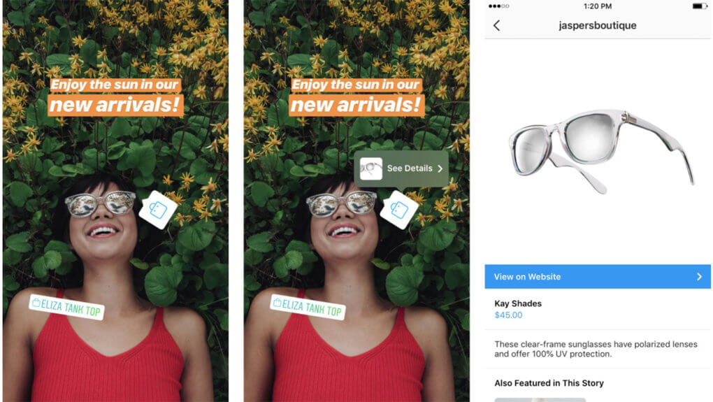 Instagram Collection Ads and shopping bag for stories