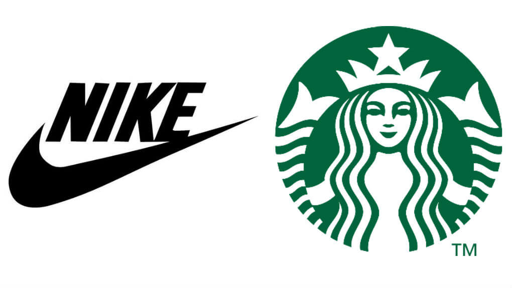 Nike and Starbucks Logo