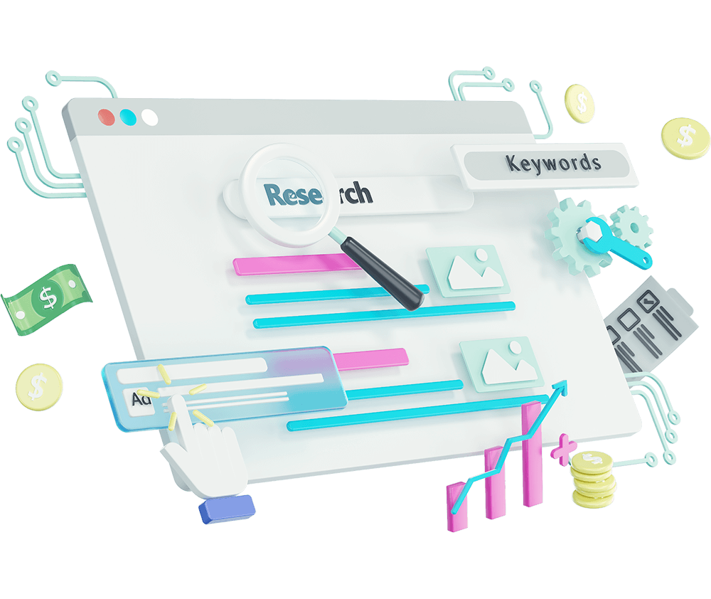 Paid-search-3d-illustrations