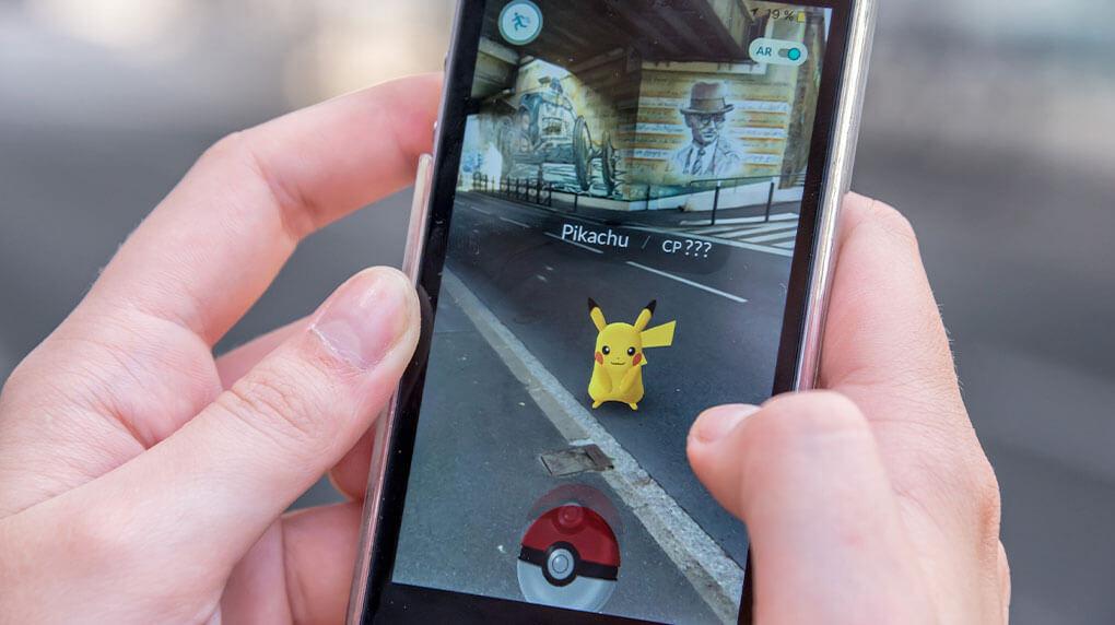AR image of Pikachu in Pokemon GO game
