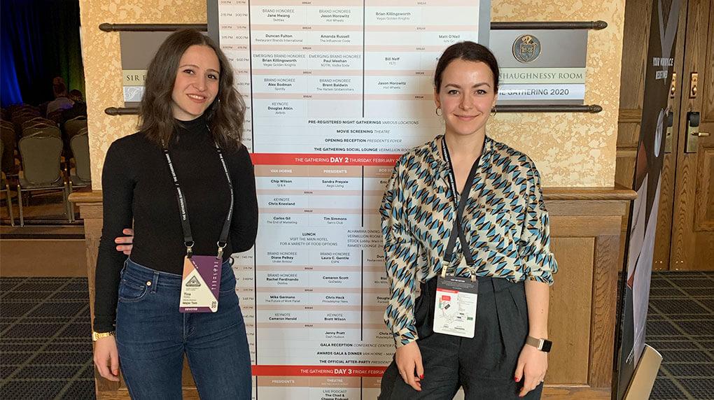 Tina and Tamara at The Gathering summit