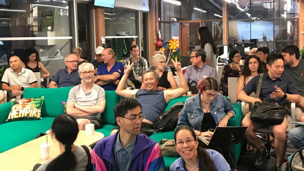 attendees at a WordPress Meetup