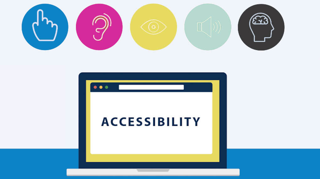 illustration showing disabilities associated with web accessibility