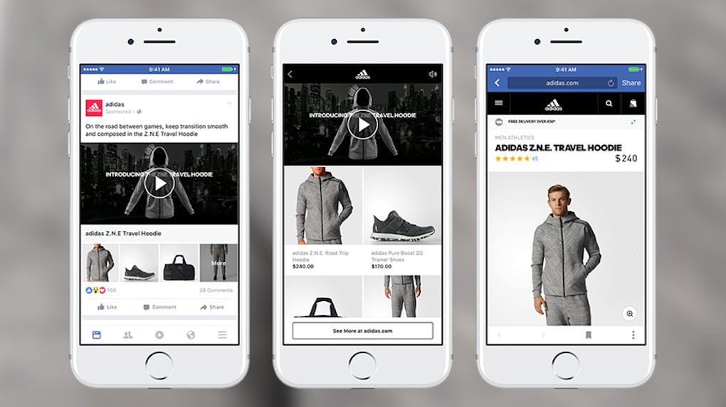 facebook adidas video ad example