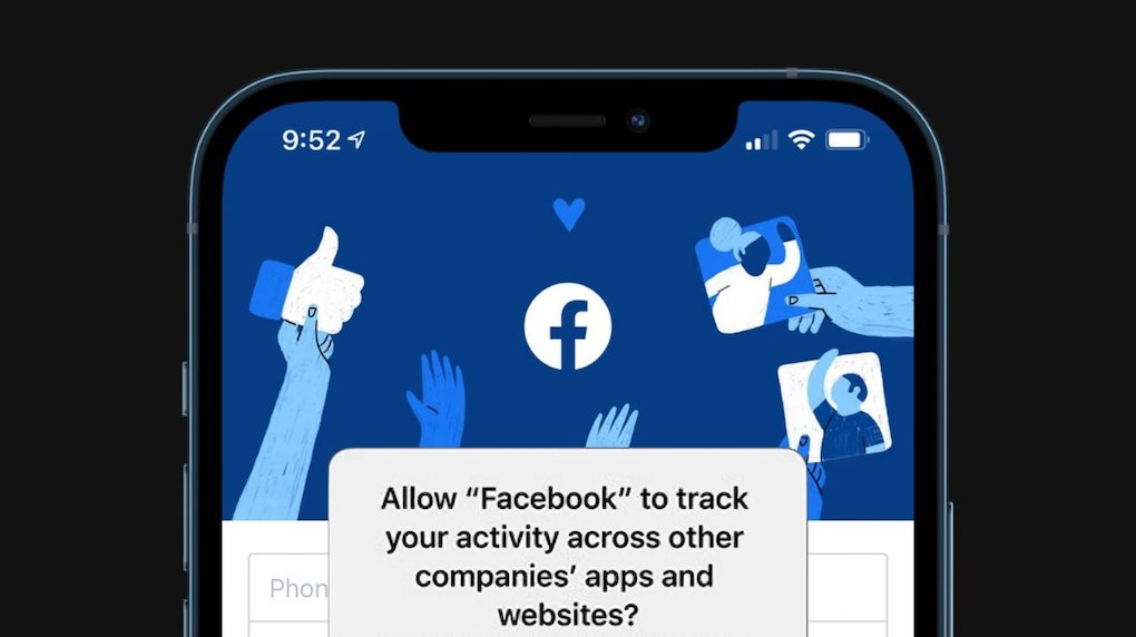 facebook icon asking to track activity