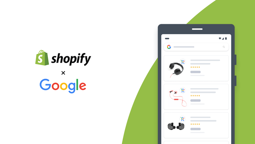 google and shopify logo with phone example
