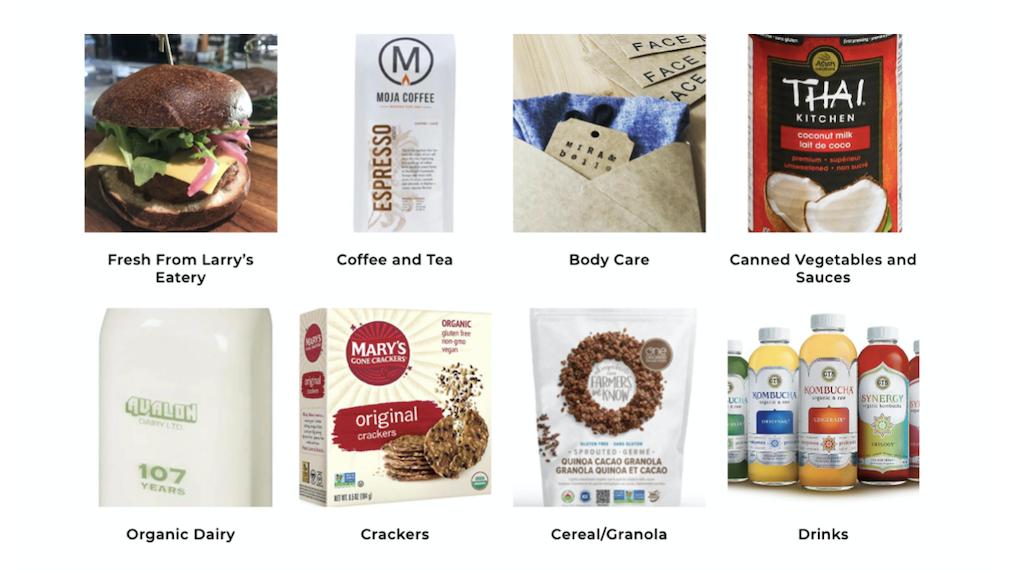 larrys market product list example