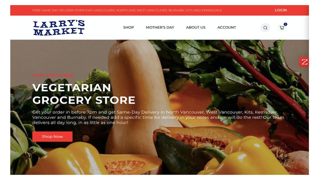 larrys market website