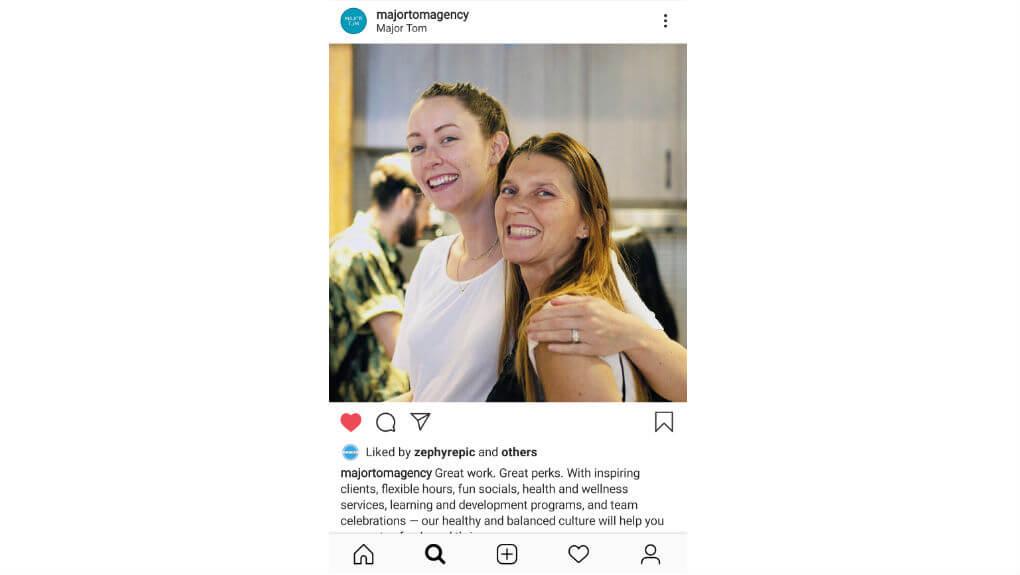 Instagram post from Major Tom