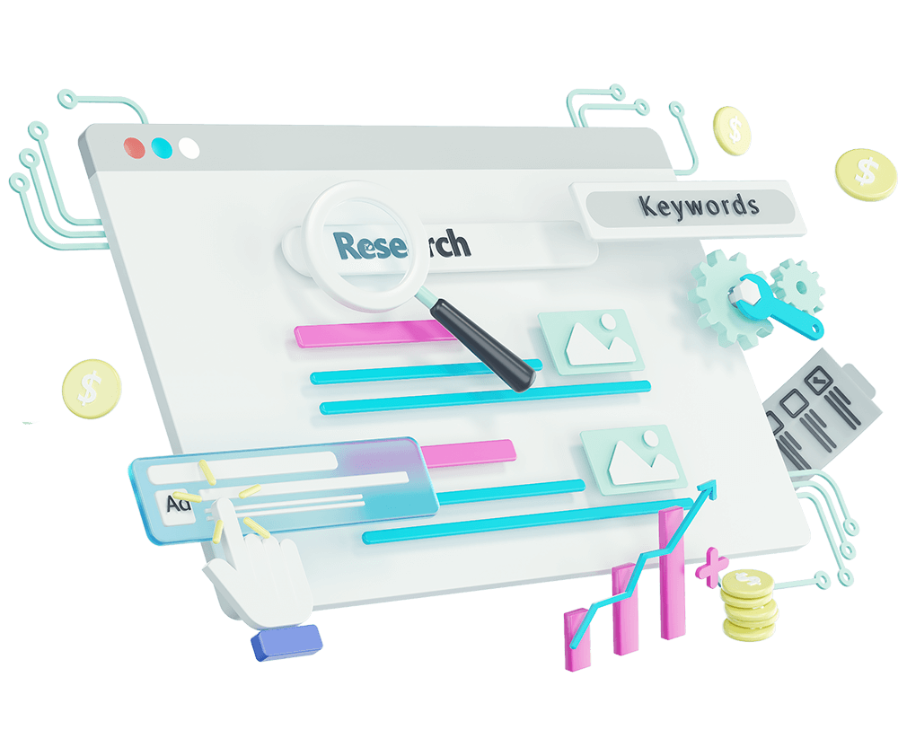 paid-search-3d-illustration