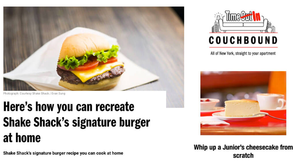 Shake Shack and TimeOut provided recipes for how to make their iconic dishes at home