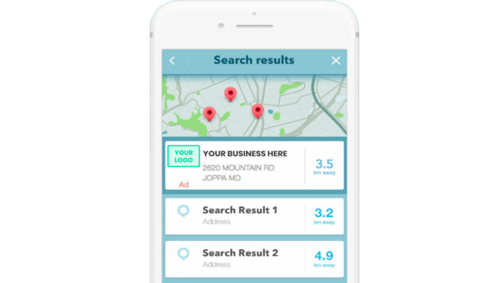 Waze search ads example