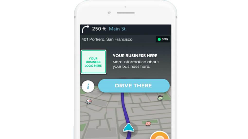 Waze Zero-Speed ads example