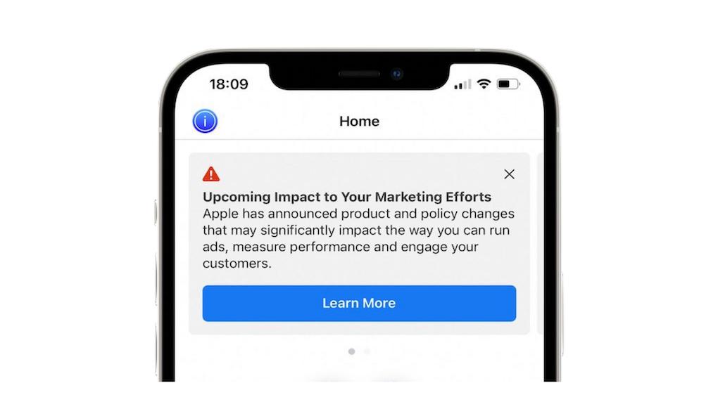 Facebook Apple warning on phone