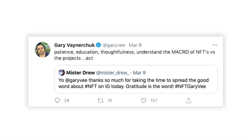 Garry Vee NFTs Tweet