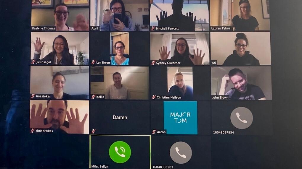 leadership team on zoom call