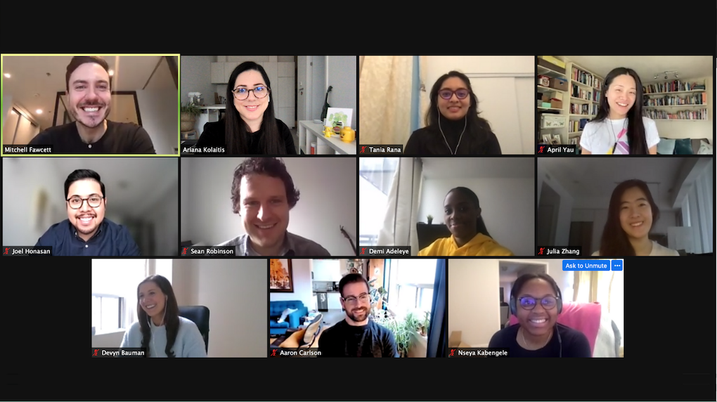 toronto team - group of people on a zoom call